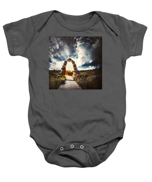 The Arch On The Edge Of Forever Baby Onesie