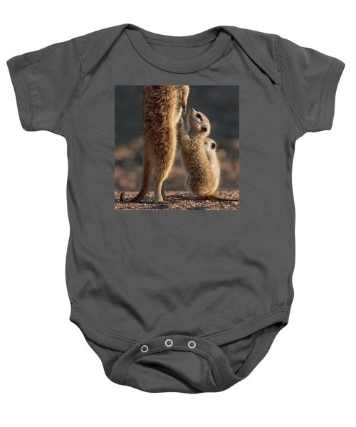 The Baby Is Hungry Baby Onesie by Happy Home Artistry