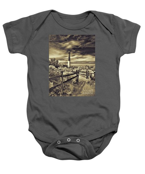 The Barnegat Lighthouse New Jersey Baby Onesie