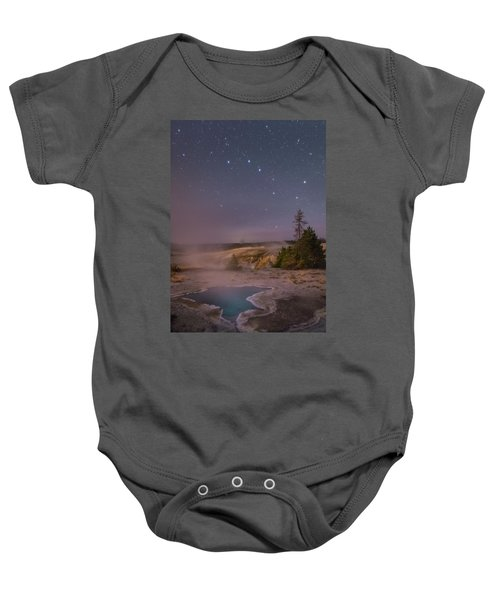 The Big Dipper In Yellowstone National Park Baby Onesie