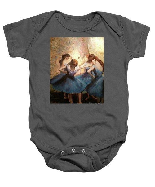The Blue Ballerinas - A Edgar Degas Artwork Adaptation Baby Onesie