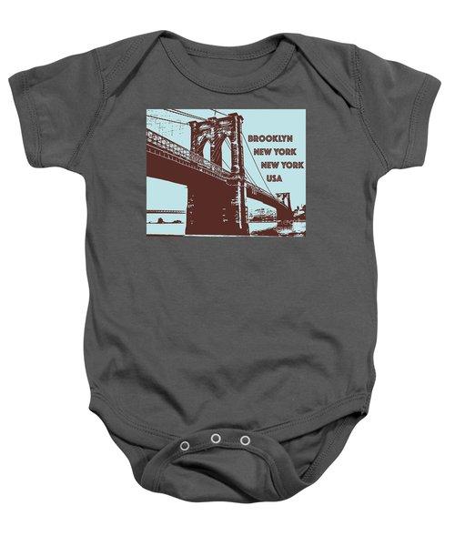 The Brooklyn Bridge, New York, Ny Baby Onesie