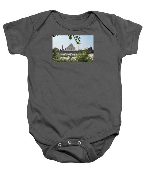 The Calm Behind The Taj Mahal Baby Onesie
