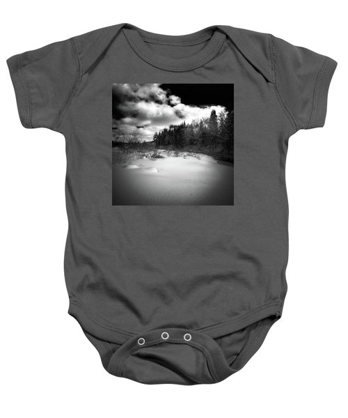 Baby Onesie featuring the photograph The Calm Of Winter by David Patterson
