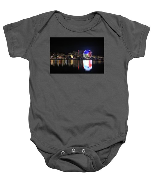 The Capital Wheel Over The Potomac Baby Onesie