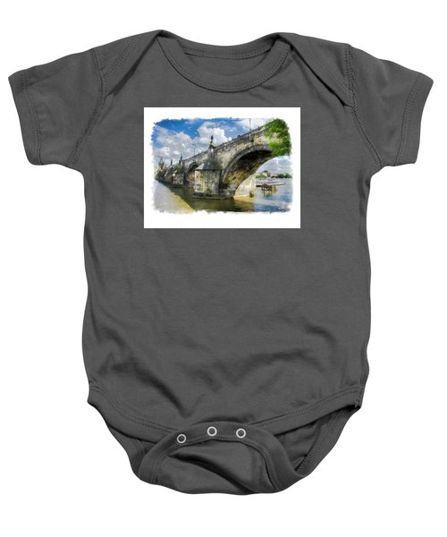 The Charles Bridge - Prague Baby Onesie