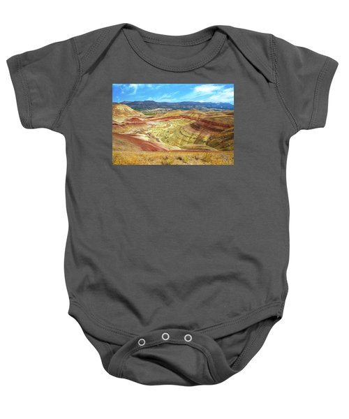 The Colorful Painted Hills In Eastern Oregon Baby Onesie