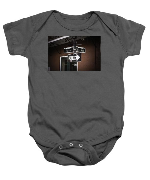 The Corner Of Royal And St. Ann, New Orleans, Louisiana Baby Onesie