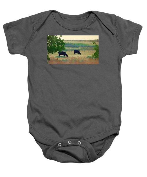 The Cows Next Door Baby Onesie