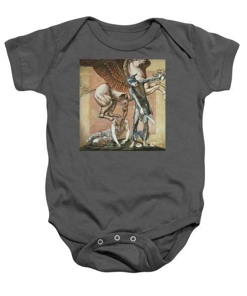 The Death Of Medusa I Baby Onesie by Edward Coley Burne-Jones