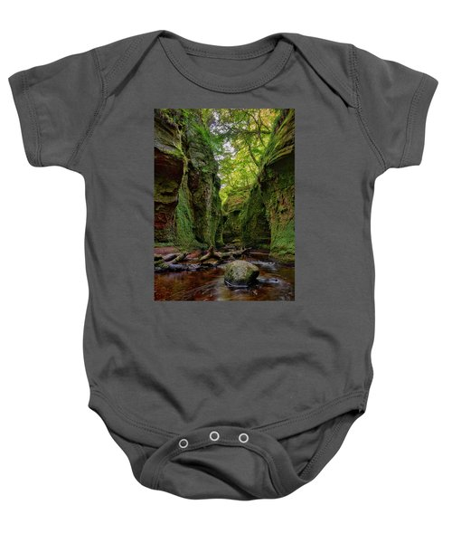 The Devil Pulpit At Finnich Glen Baby Onesie