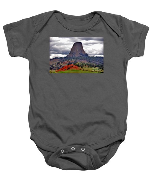 The Devils Tower Wy Baby Onesie