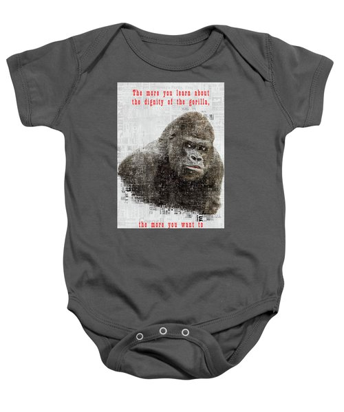 The Dignity Of A Gorilla Baby Onesie