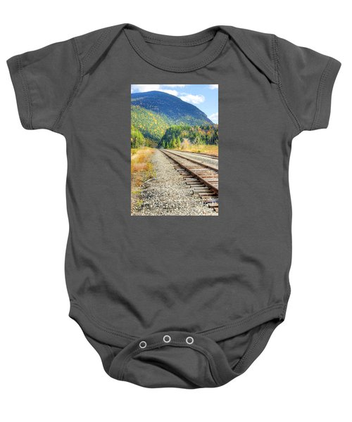 The Disappearing Railroad Baby Onesie