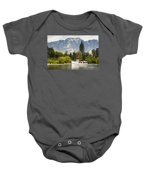 Baby Onesie featuring the photograph The Earnslaw by Werner Padarin