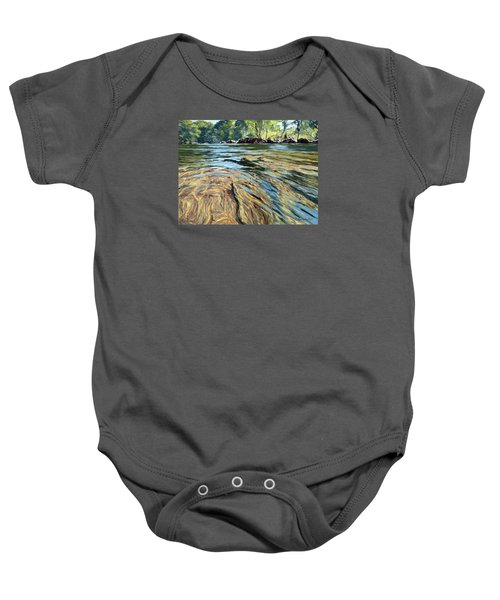 Baby Onesie featuring the painting The East Dart River Dartmoor by Lawrence Dyer