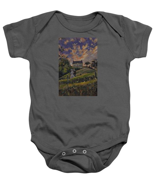 The Evening Stroll Around The Hoeve Zonneberg Baby Onesie