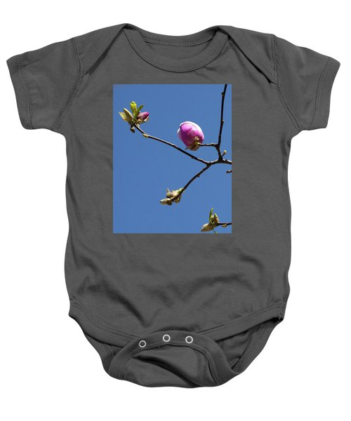 The First To Bloom Baby Onesie