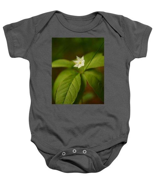 The Flower Of The Dark Woods Baby Onesie