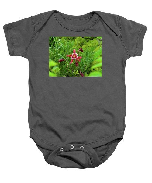 The Flowering Columbine Baby Onesie