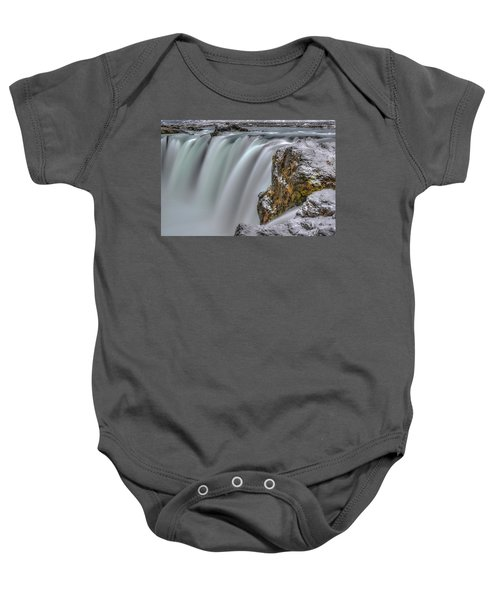 The Flowing Godafoss Falls Baby Onesie