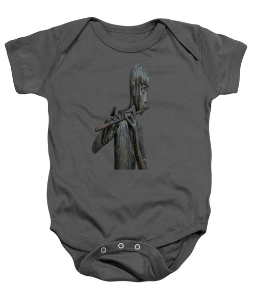 Baby Onesie featuring the painting The Flute Player by David Dehner