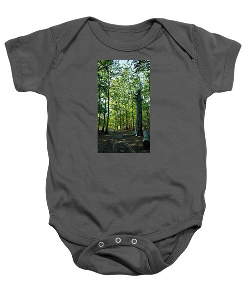 Baby Onesie featuring the photograph The Forest by Pedro Fernandez