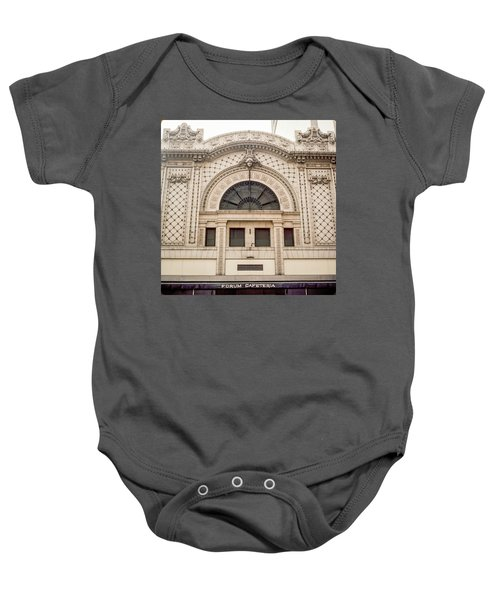 The Forum Cafeteria Facade Baby Onesie