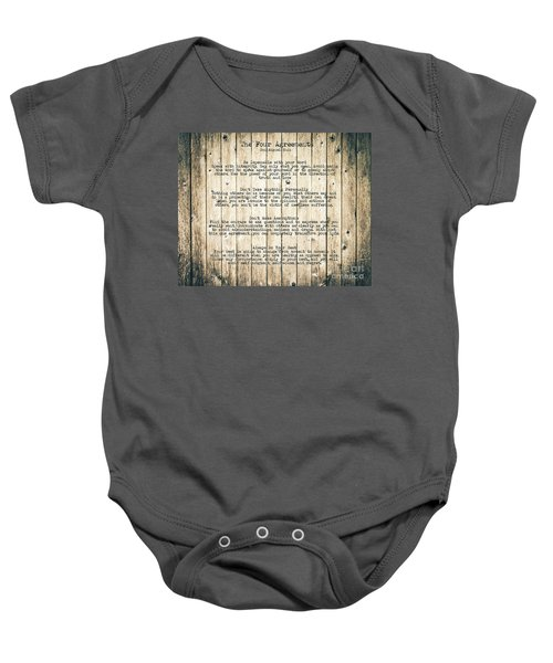 The Four Agreements 8 Baby Onesie