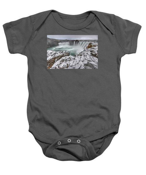The Godafoss Falls In Winter Baby Onesie