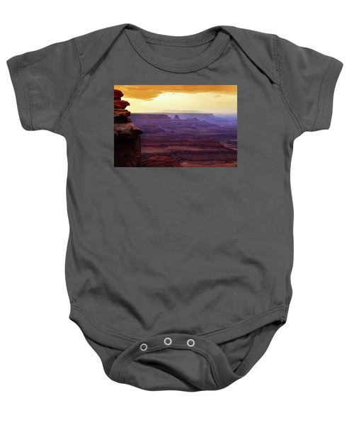 The Gold Light Of Dawn Baby Onesie