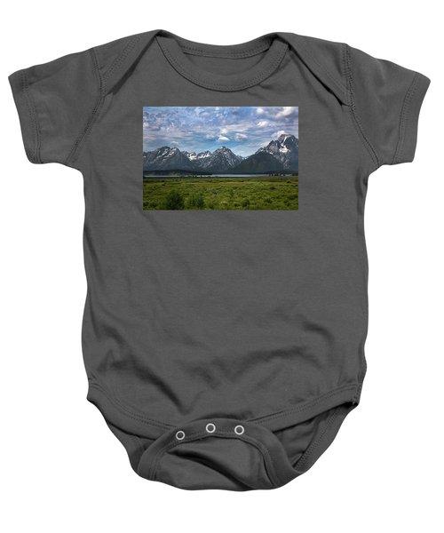 The Grand Tetons Baby Onesie