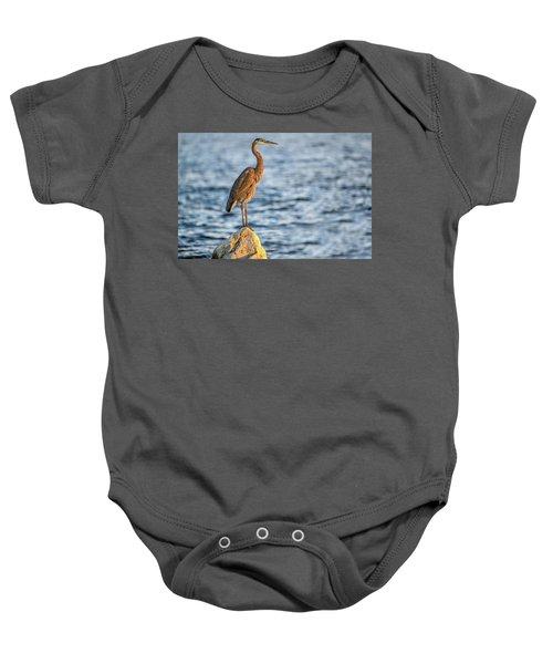 The Great Blue Heron Baby Onesie