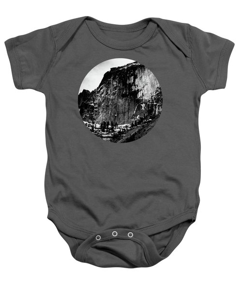 The Great Wall, Black And White Baby Onesie by Adam Morsa