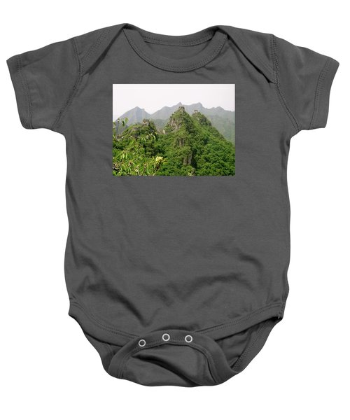 The Great Wall Of China Winding Over Mountains Baby Onesie