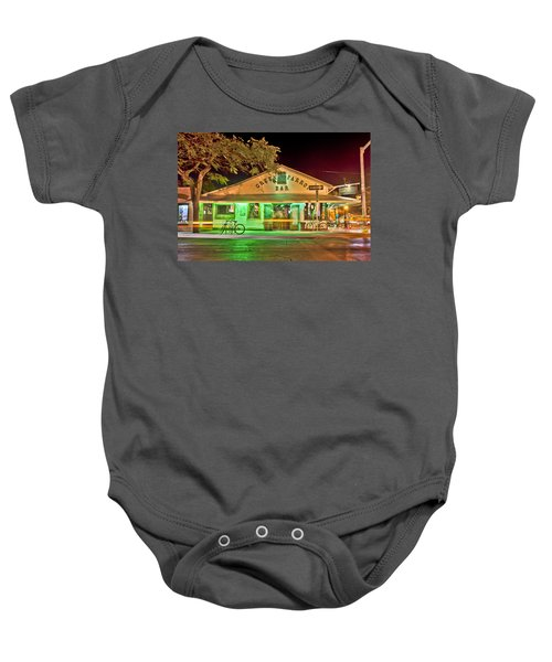 The Greeen Parrot Baby Onesie