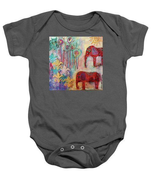 The Guardians Of Night And Day Baby Onesie