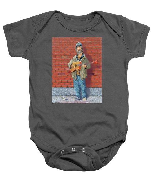 The Guitarist Baby Onesie