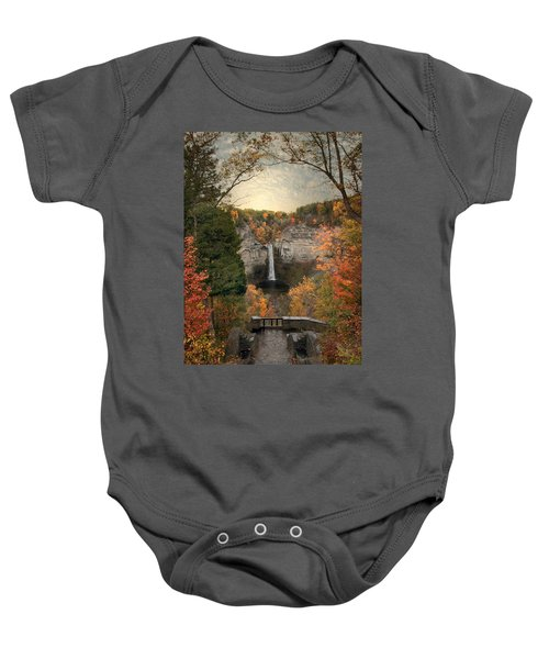 The Heart Of Taughannock Baby Onesie