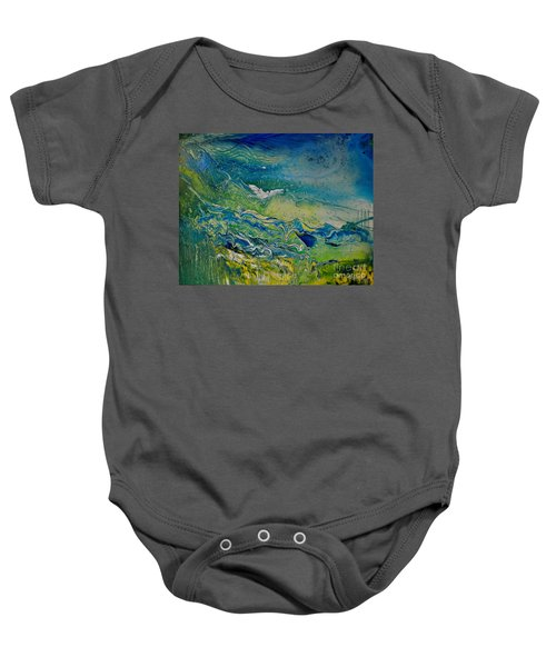 The Heavens And The Eart Baby Onesie
