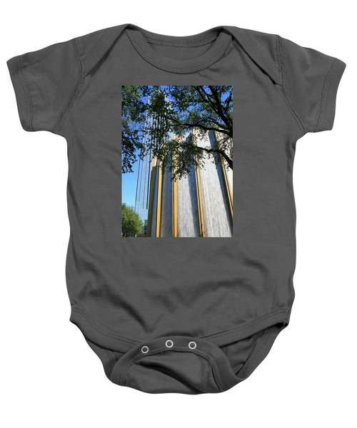 The Houston Water Wall And Williams Tower Baby Onesie