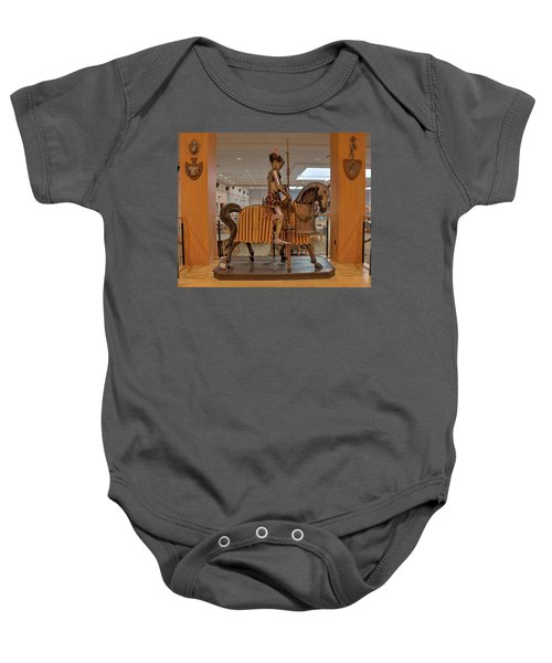 The Knight On Horseback Baby Onesie