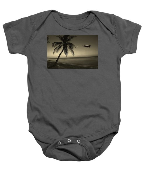 The Last Flight Out Baby Onesie
