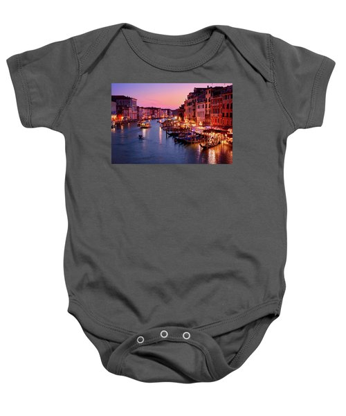 The Blue Hour From The Rialto Bridge In Venice, Italy Baby Onesie