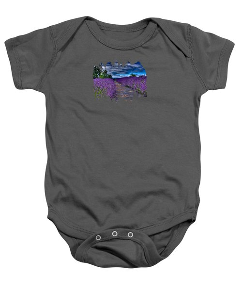 The Lavender Field Baby Onesie