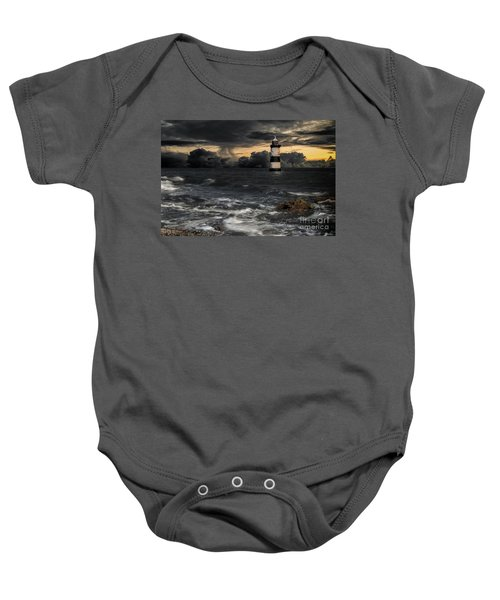 The Lighthouse Storm Baby Onesie
