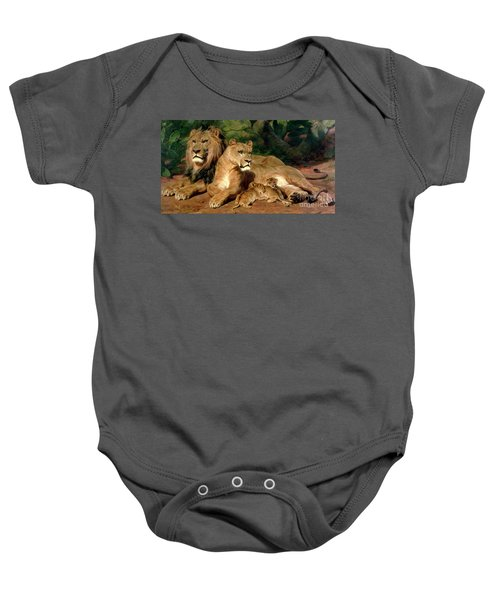 The Lions At Home Baby Onesie