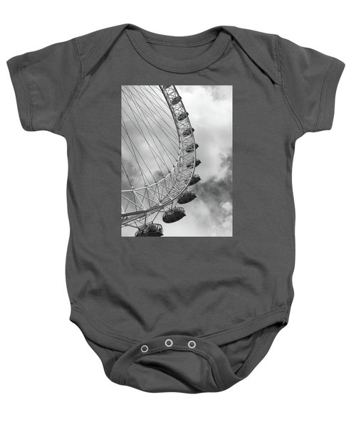 Baby Onesie featuring the photograph The London Eye, London, England by Richard Goodrich