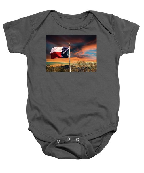 The Lone Star Flag Baby Onesie