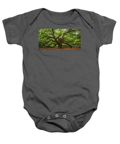 The Magical Angel Oak Tree Panorama  Baby Onesie